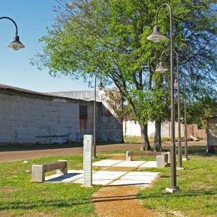 The finished Baptist Town pocket park.