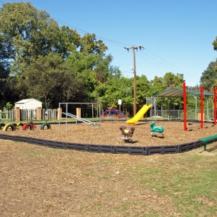 Avenue A Park in Baptist Town was renovated with assistance from a local Greenwood business.