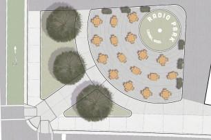 The CSTC reimagined the corner lot as Radio Park